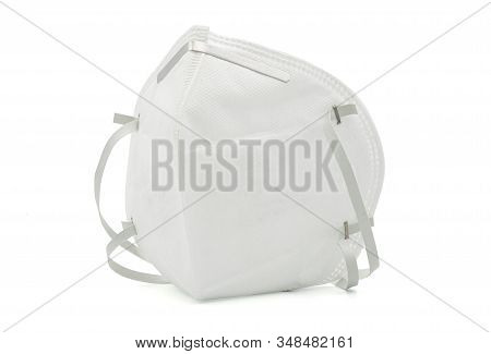 Close Up Of Isolate Medical Or Surgical Mask On White Background With Clipping Path.this Mask For Pr