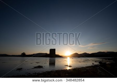 Sunsets Over Castle Stalker, Scotland