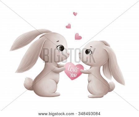 Loving Couple Of Cute Bunnies