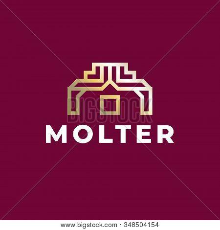 Letter Mark M Logo Design. Luxury And Premium Letter Mark M Logo Design. Letter Mark M Golden Logo D