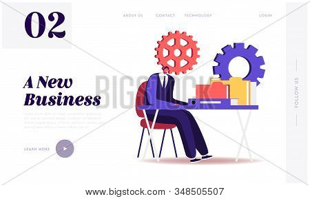 Audit Website Landing Page. Administrator Business Man Financial Inspector And Secretary Making Repo