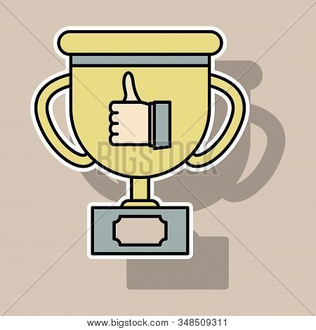 Sticker Thumbs Up Like Social Network Facebook Etc. Icon New Appreciation Number Symbol. Idea - Blog