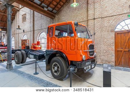 Cordoba Argentina January 29 Old Iveco Truck Exposed In The Industrial Museum Of The City Located In