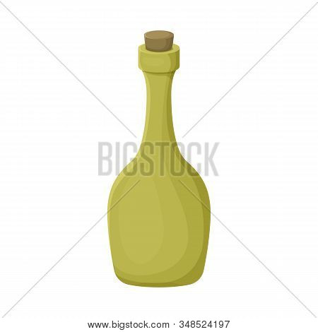 Vector Design Of Rum And Bottle Symbol. Graphic Of Rum And Stopper Stock Vector Illustration.