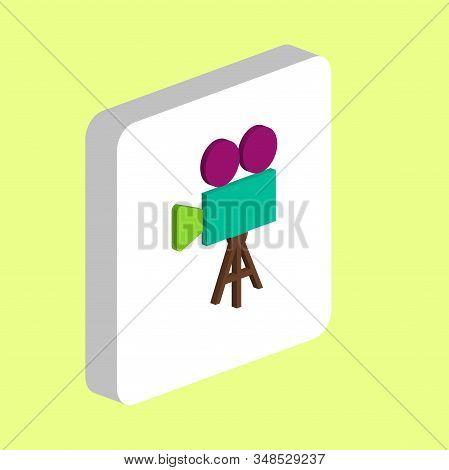 Film Camcorder Simple Vector Icon. Illustration Symbol Design Template For Web Mobile Ui Element. Pe
