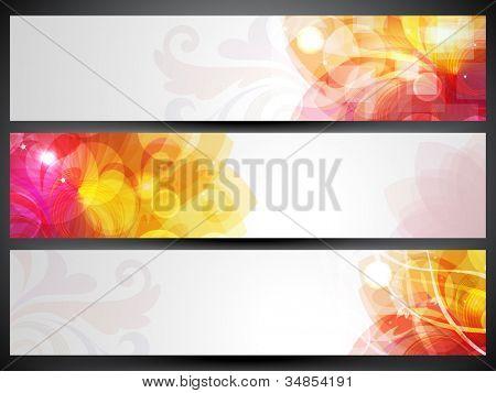 Website banner or header set. EPS 10. poster