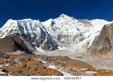 Mount Cho Oyu And Ngozumba Glacier - Way To Cho Oyu Base Camp - Everest Area, Sagarmatha National Pa