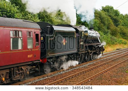 Appleby, England - August 26:  Preserved Stanier Class Black Five Steam Locomotive Number 44932 Pict