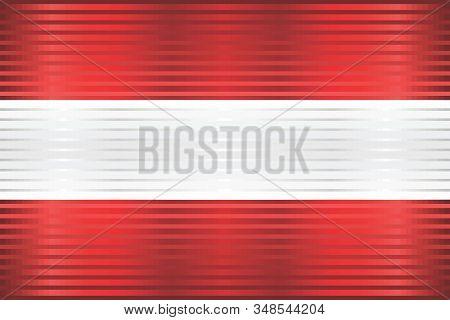 Shiny Grunge Flag Of The Austria - Illustration,  Three Dimensional Flag Of Austria