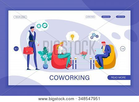 Coworking Company. Office Worker With Red Briefcase Thinking Over Two Complicated Tasks At Time. Wom