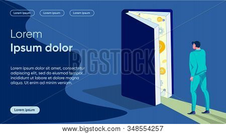 Education Light Flat Landing Page Vector Template. Study, Knowledge Significance Metaphor. Businessm