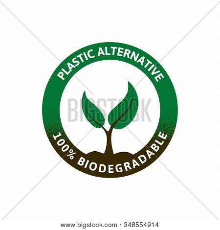 Logo For Biodegradable Materials. Preserving A Healthy Environment. Eco Friendly Products.