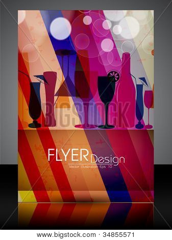 Professional business flyer, brochure or cover design for publishing, print and presentation. Vector illustration in EPS 10. poster