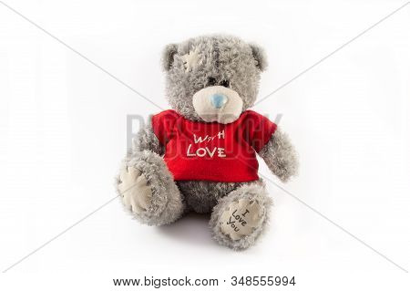 In Images Teddy Bear On A White Background With Clipping Path
