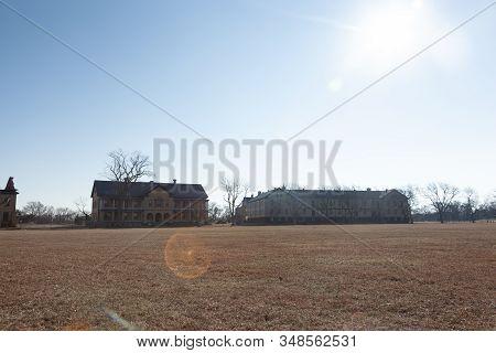Fort Hancock At Sandy Hook In Winter