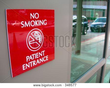No Smoking Sign At Hospital