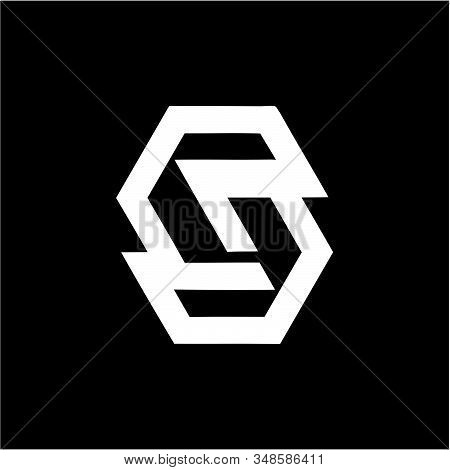 Simple S, Cg, Ce, Cgs, Ces Initials Company Logo