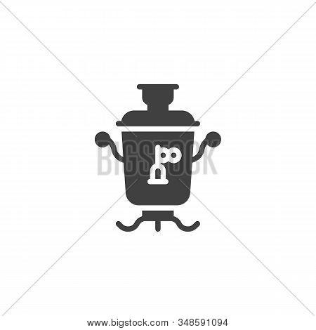 Azerbaijan Tea Samovar Vector Icon. Filled Flat Sign For Mobile Concept And Web Design. Traditional