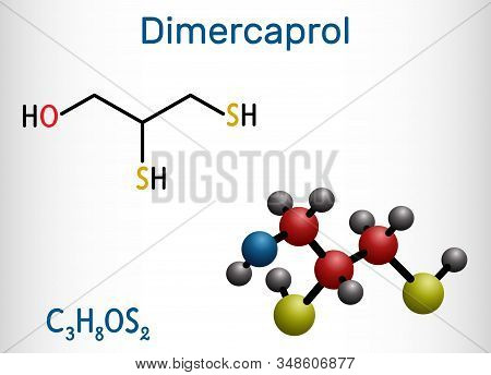 Dimercaprol, Bal, British Anti-lewisite, C3h8os2, Molecule. It Is Chelating Agent, Antidote Against