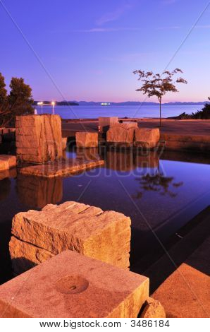 Water Fountain At Ambleside Park