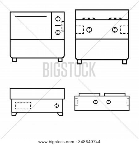 Vector Illustration Of Household And Industrial Sign. Collection Of Household And Equipment Stock Ve