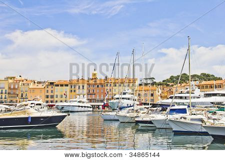 View of the Port of Saint-Tropez France poster