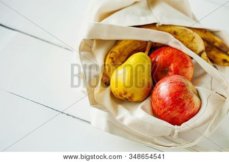 Zero Waste,plastic Free Recycled Produce Bag For Carrying Fruit Apple,pear And A Banana Or Vegetable