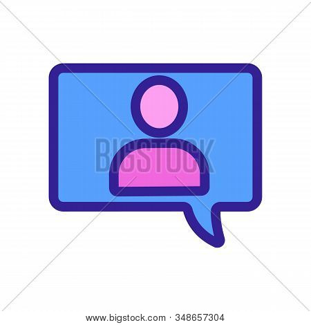 Message To The User The Vector Icon. A Thin Line Sign. Isolated Contour Symbol Illustration