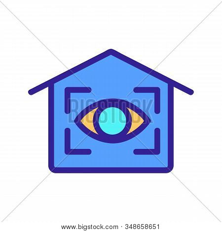 Smart House Icon Vector. A Thin Line Sign. Isolated Contour Symbol Illustration