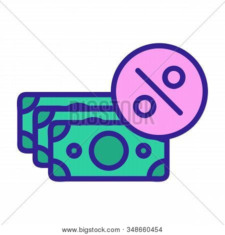 Cashback Icon Vector. A Thin Line Sign. Isolated Contour Symbol Illustration