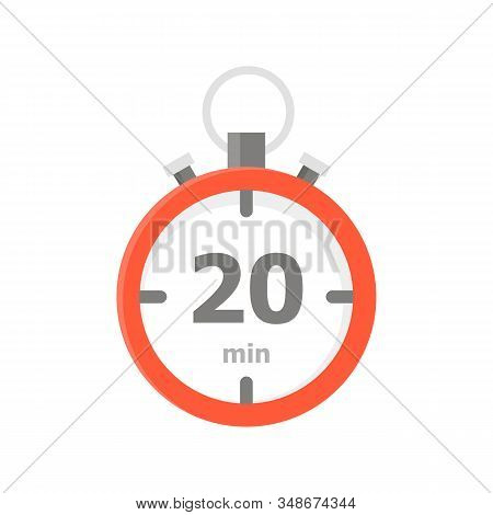 The Red Minute With The 20 Minute Is Depicted On A White Background.