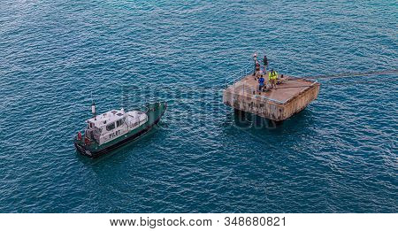 Orenjastad, Aruba - December 7: A Pilot Boat Is Used To Transport Maritime Pilots Between Land And S