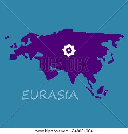 Territory Of Eurasia. Vector Illustration Country, Flag, Icon, Symbol, World