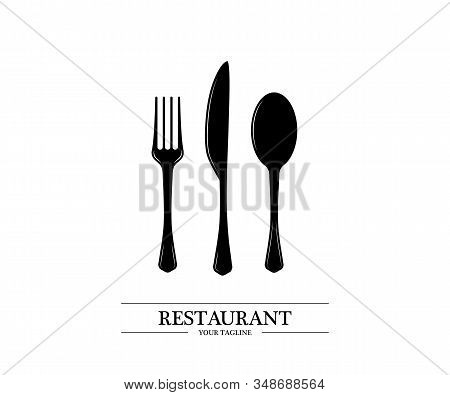 Spoon, Knife, And Fork Logo. Cutlery Icon. Restaurant Signs. Collection Spoon, Knife, Fork. Restaura