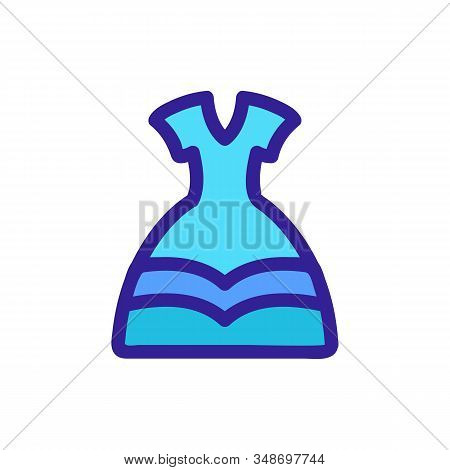 Dress Princess Icon Vector. A Thin Line Sign. Isolated Contour Symbol Illustration