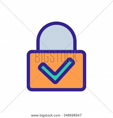 The Lock Is Closed Vector Icon. A Thin Line Sign. Isolated Contour Symbol Illustration