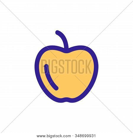 Apple Icon Vector. A Thin Line Sign. Isolated Contour Symbol Illustration