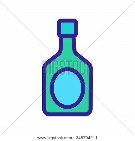 A Bottle Of Liquor Icon Vector. A Thin Line Sign. Isolated Contour Symbol Illustration