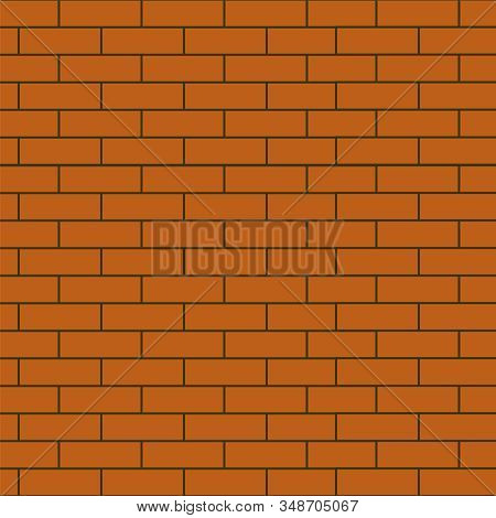 Red Brick Wall Vector. Brickwall Abstract Background