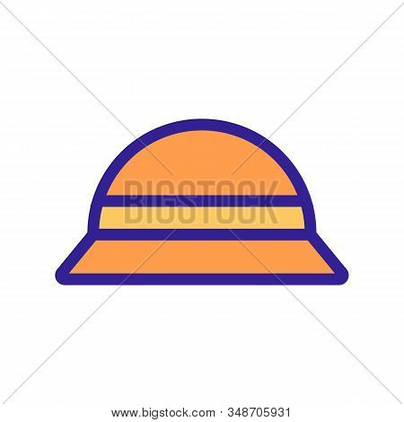 Traveler Hat Icon Vector. A Thin Line Sign. Isolated Contour Symbol Illustration