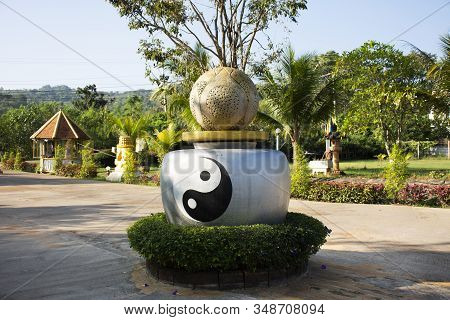 Symbol Of Taoism Or Daoism Called Yin Yang Ancient Chinese Philosophy In Outdoor Of Decoration Garde