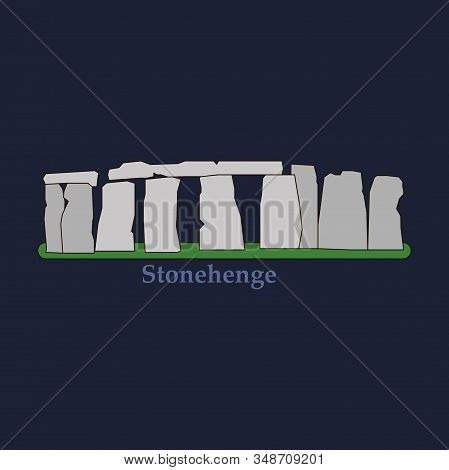 Stonehenge Icon Isolated On White Background. Vector Illustration For Prehistoric Religious Landmark