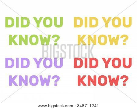 Did You Know Background. Did You Know Question