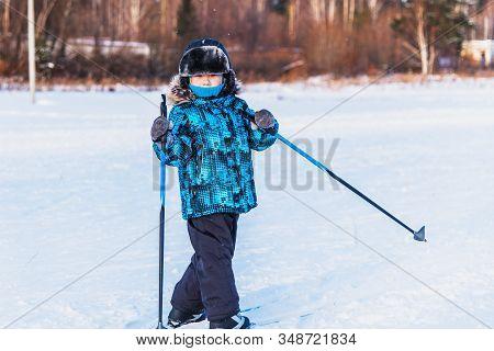 Boy On A Ski Trip