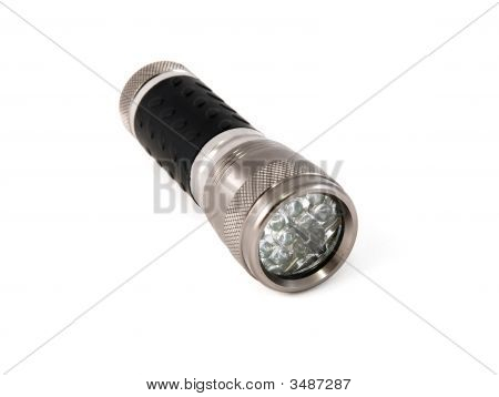 Flashlight On White