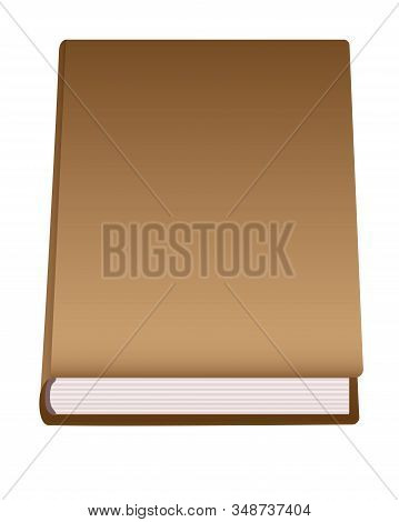 Mockup Book. Closed Book Or Diary With Copy Space. Book With A Blank Cover For Your Text Or Images.