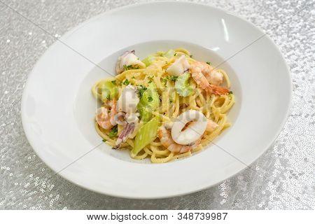 Seafood Spaghetti Aglio Olio