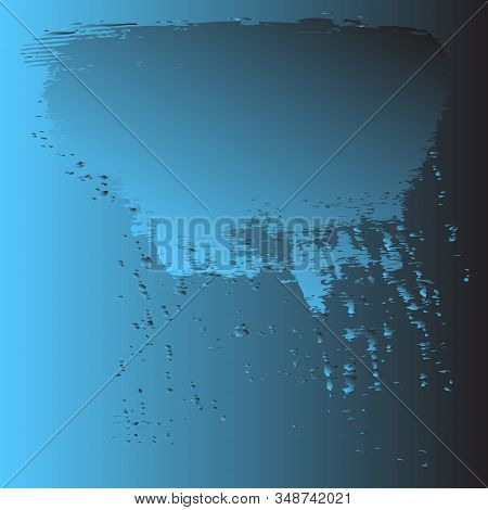 Drops Of Water. Background. Blue Gradient. Vector Illustration.