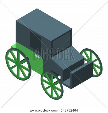 Horse Carriage Icon. Isometric Of Horse Carriage Vector Icon For Web Design Isolated On White Backgr