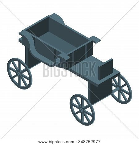 Black Horse Carriage Icon. Isometric Of Black Horse Carriage Vector Icon For Web Design Isolated On